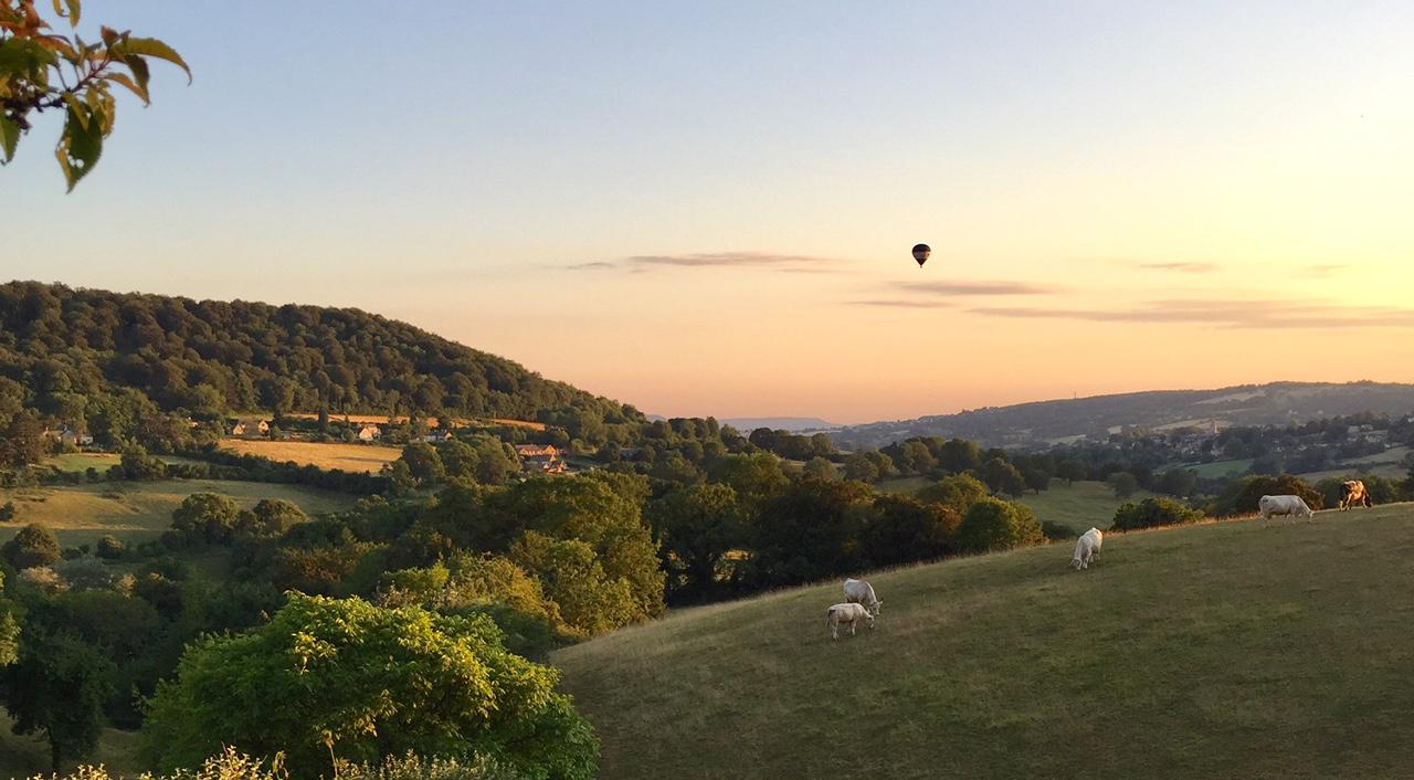 Balloon over Sheepscombe