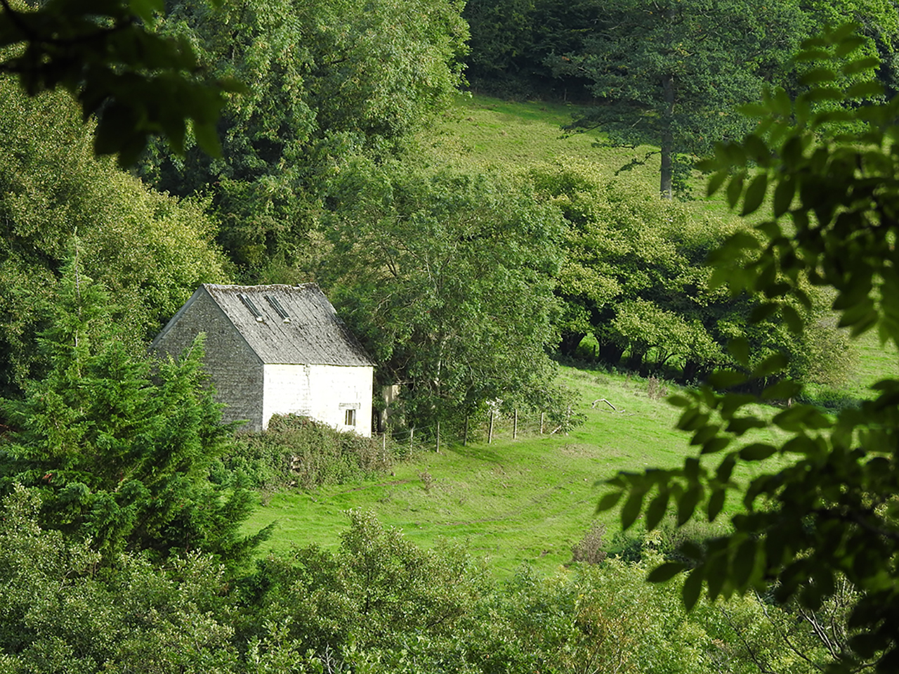 Old barn in farmland