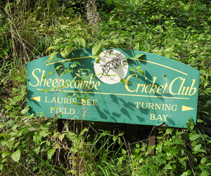 Cricket Club sign