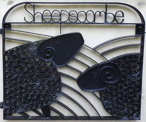 Wrought iron Sheepscombe gate